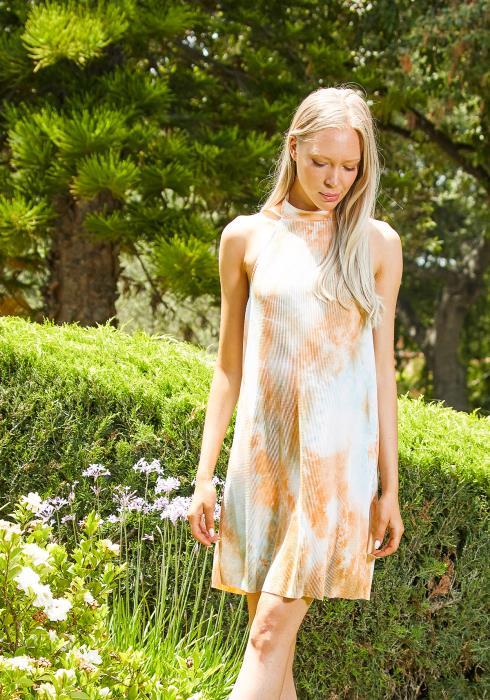 Tansy Halter Neck Tie Dye Dress