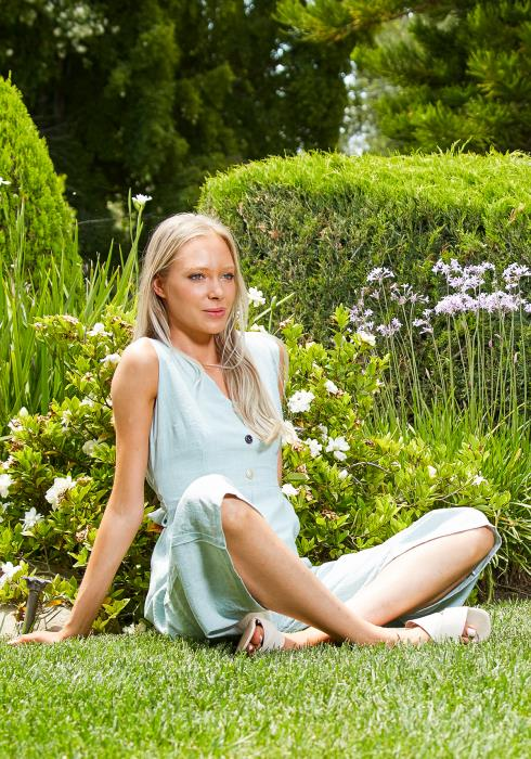 Tansy Blue Ocean Jumpsuit