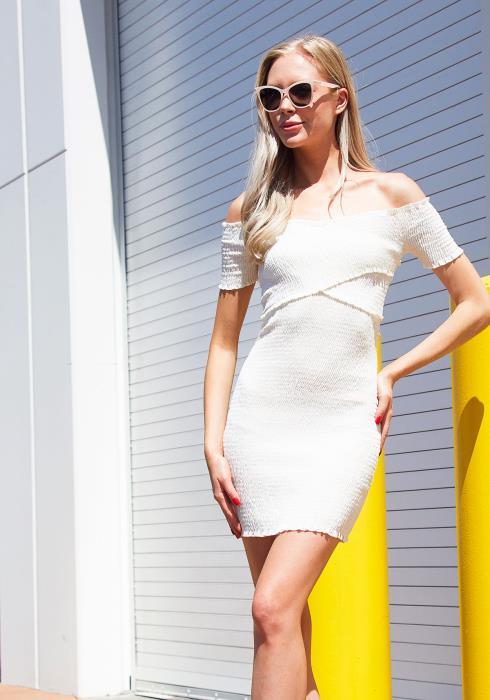 Tansy Smocked Surplice Dress