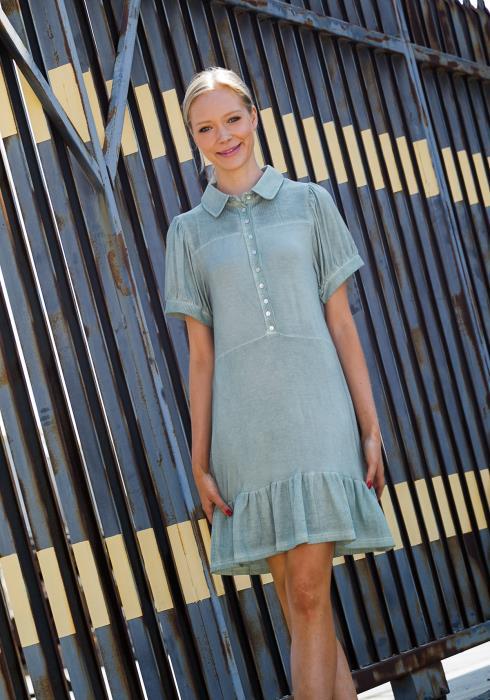 Tansy Mermaid Flared Hem Mini Dress
