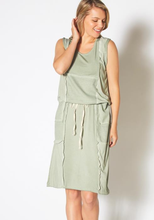 Tansy Casual Vintage Drawstring Dress