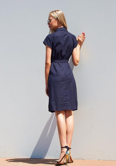 Tansy Collared Wrap Dress
