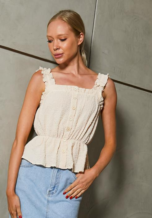 Tansy Textured Peplum Blouse
