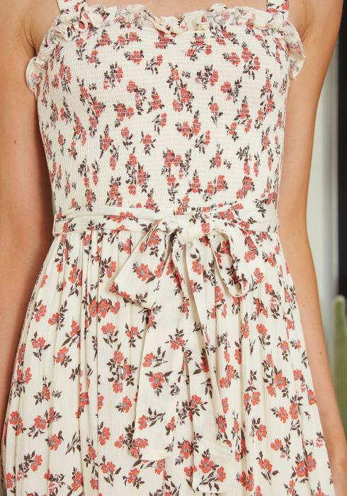 Tansy Floral Smocked Midi Sundress