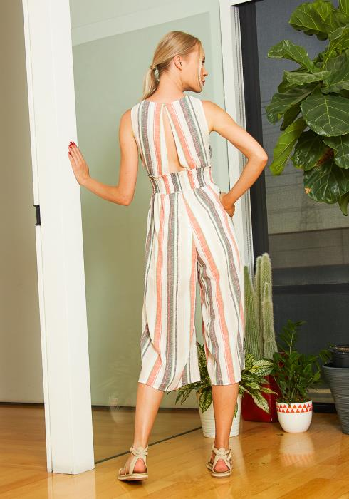 Tansy Cropped Sleeveless Jumpsuit