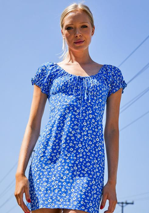 Tansy Blue Sky Floral Dress