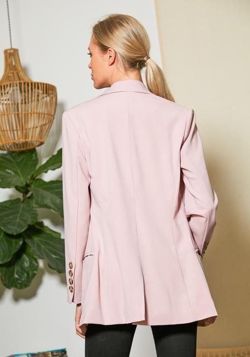 Tansy Dusty Pink Casual Blazer