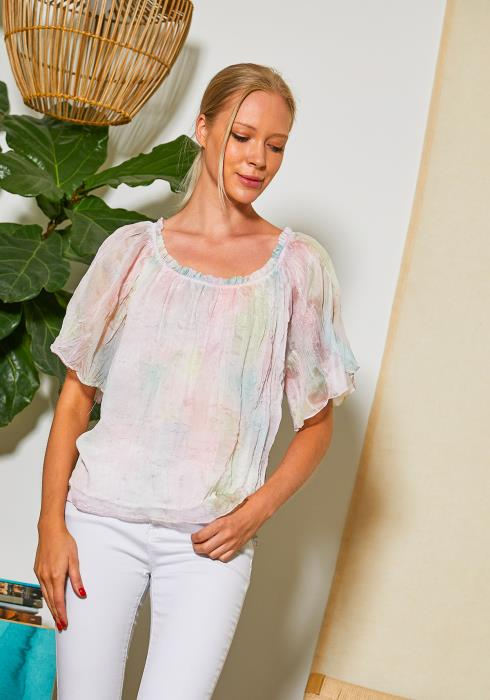 Tansy Sheer Tie Dye Blouse