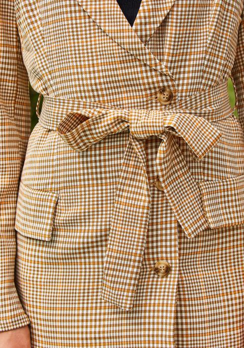 Tansy Plaid Women Blazer