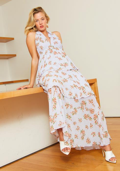 Tansy Pretty Polka-Dot Floral Print Women