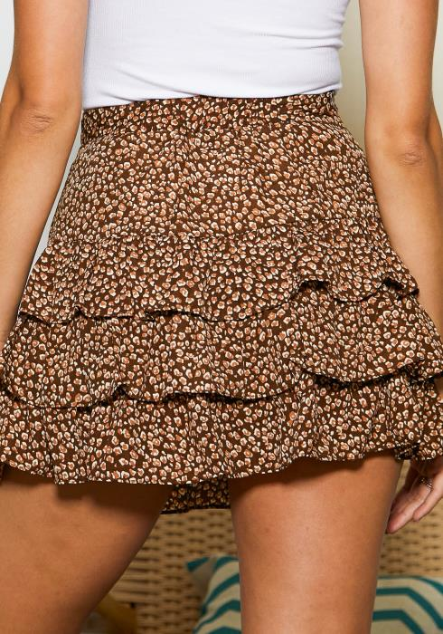 Tansy Layered Fun Brown Pattern Women