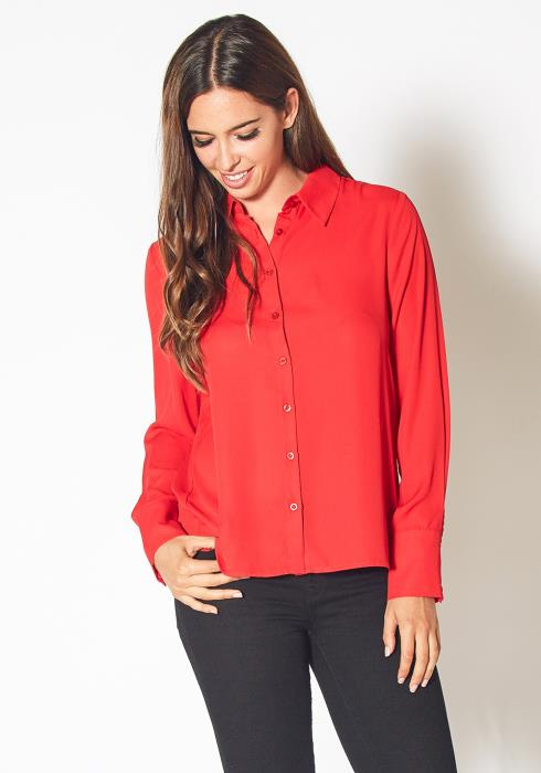 Pleione Button Up Basic Everyday Shirt