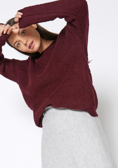 Ro & De Rag Wool Knit Crew Neck Sweater