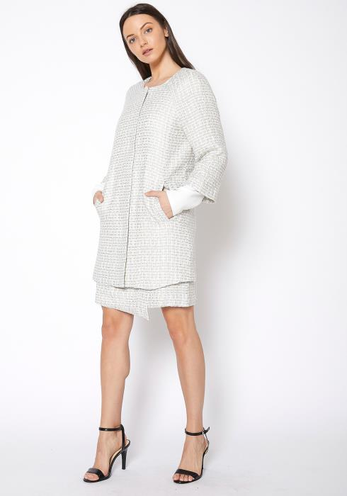 RO & DE Basket Tweed Longline Jacket