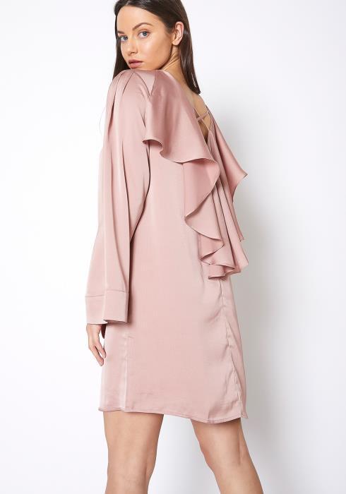 RO & DE Satin Cross Back Tunic Dress