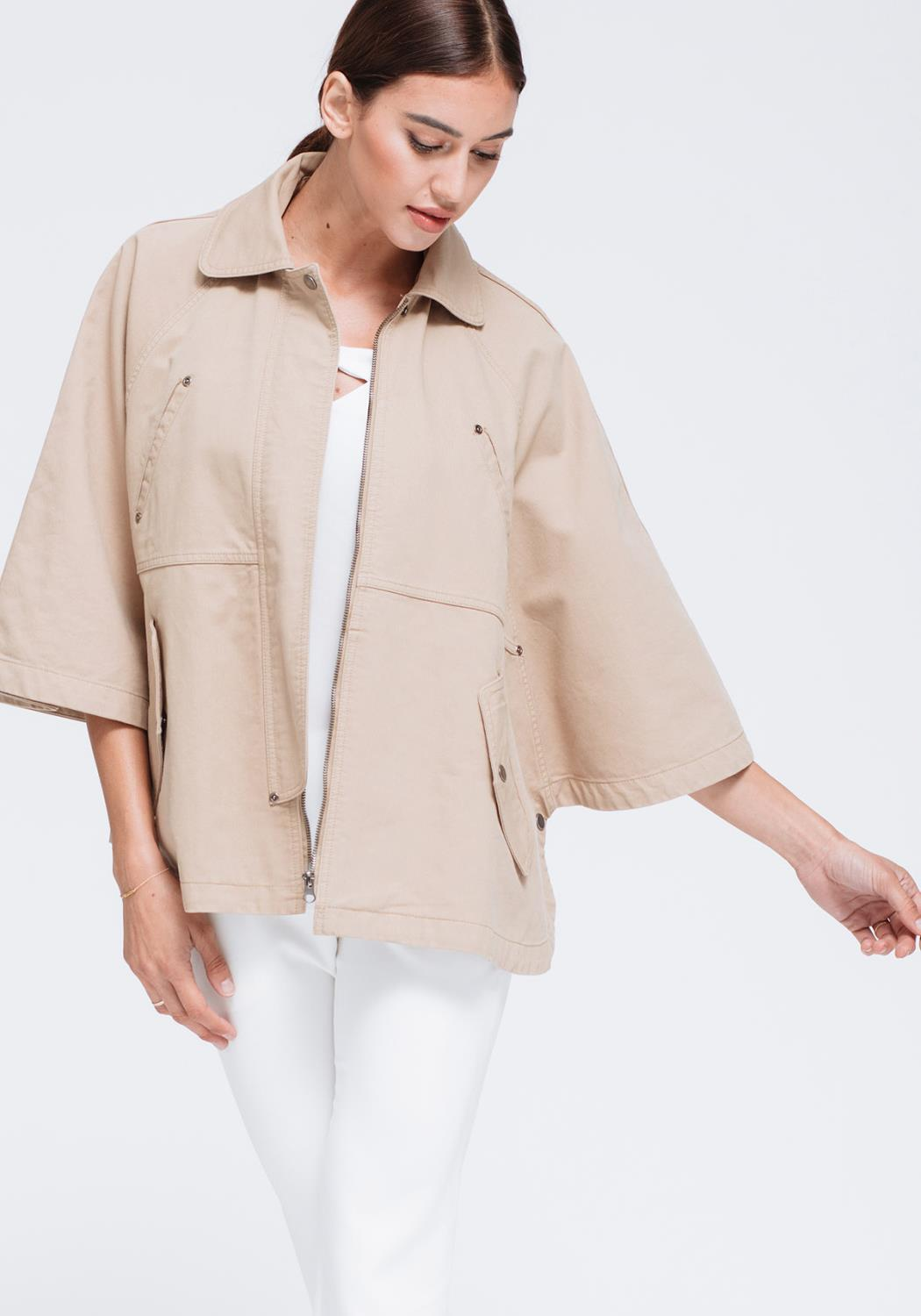 Batwing Sleeve Fall Jacket