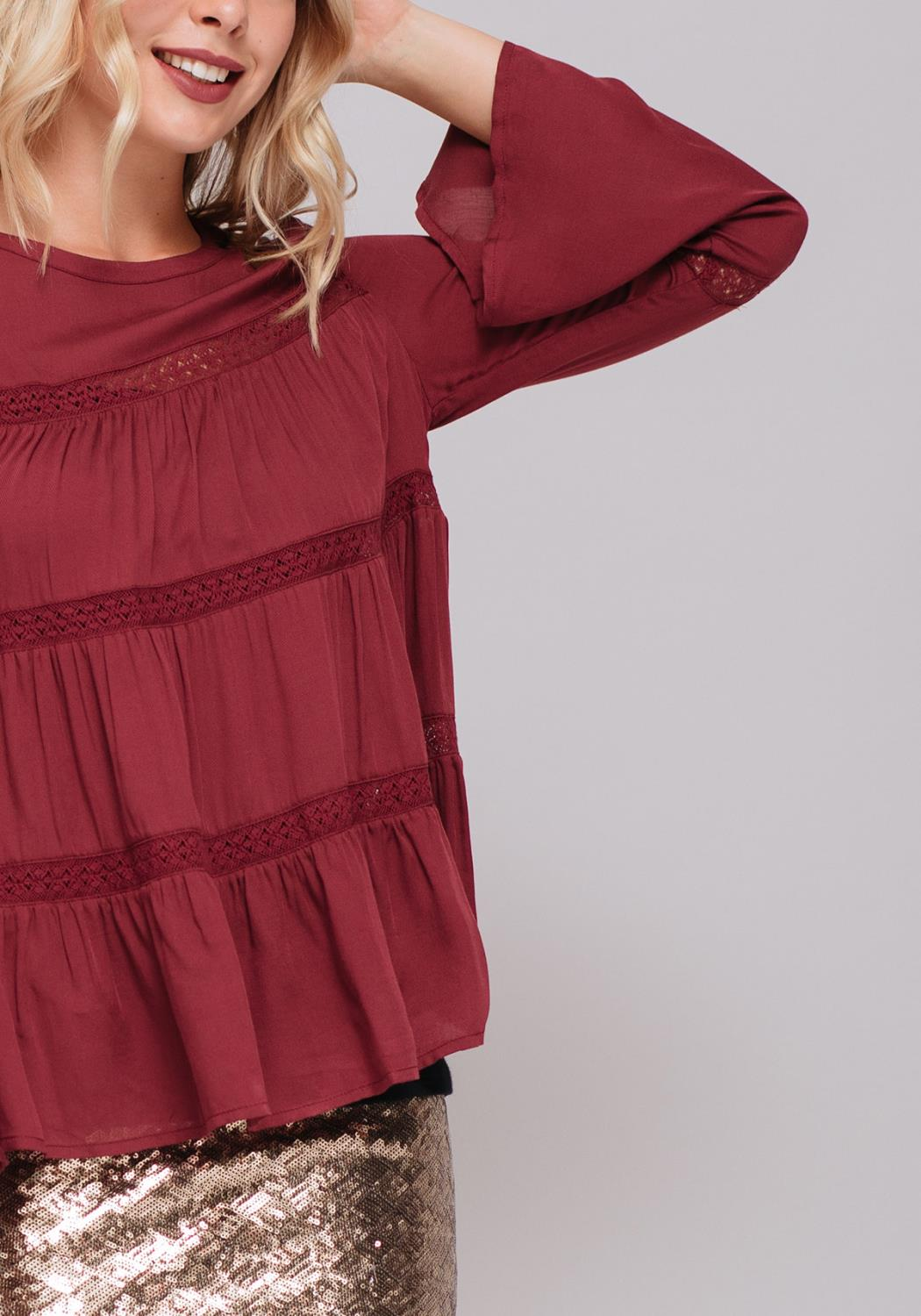 Lace Tier Peasant Top