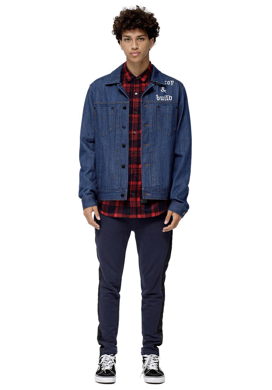 Konus Pine Men Clothing Denim Jacket