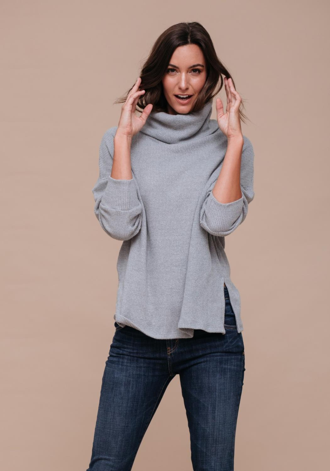 Cozy Draped Turtle Neck