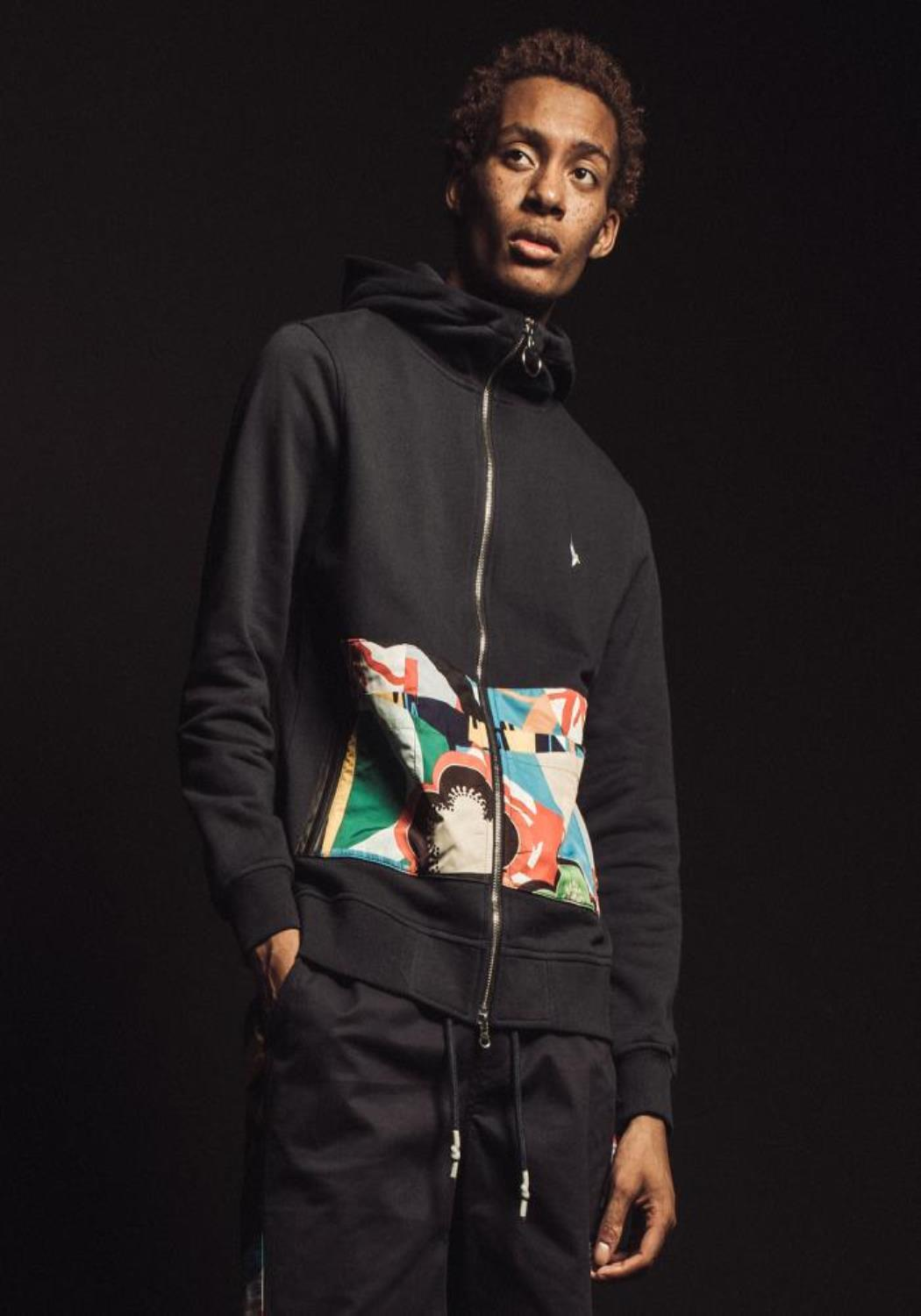 Konus Zip Up Hoodie with Contrast pocket