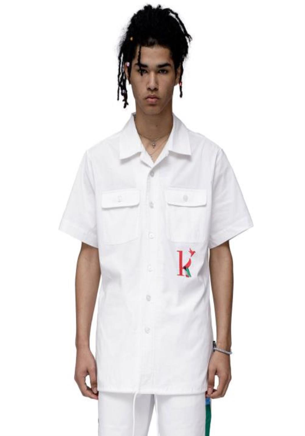 "Konus Revere Collar Shirt with ""K"" Embroidery"