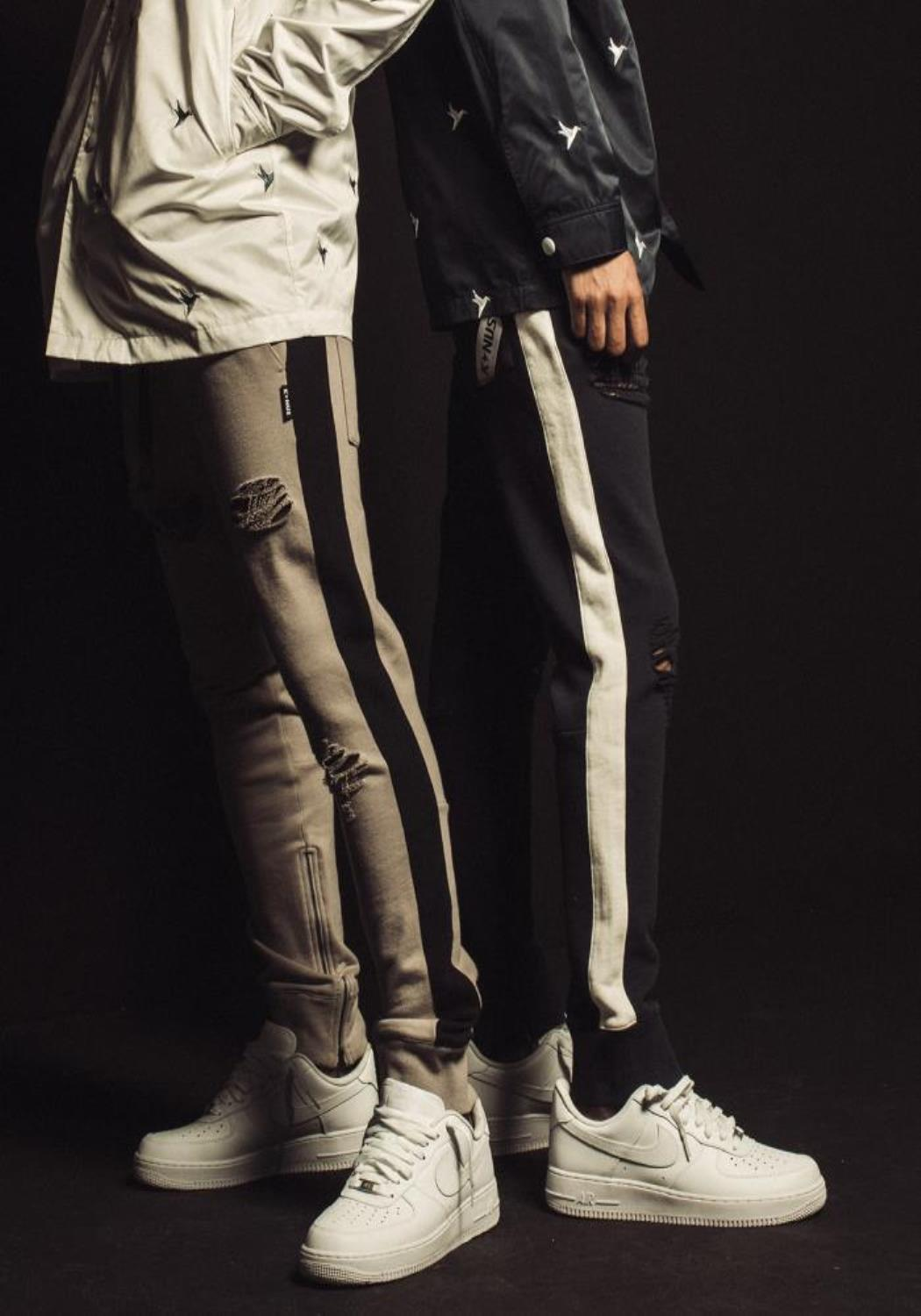 Konus French Terry Jogger with Side Stripes