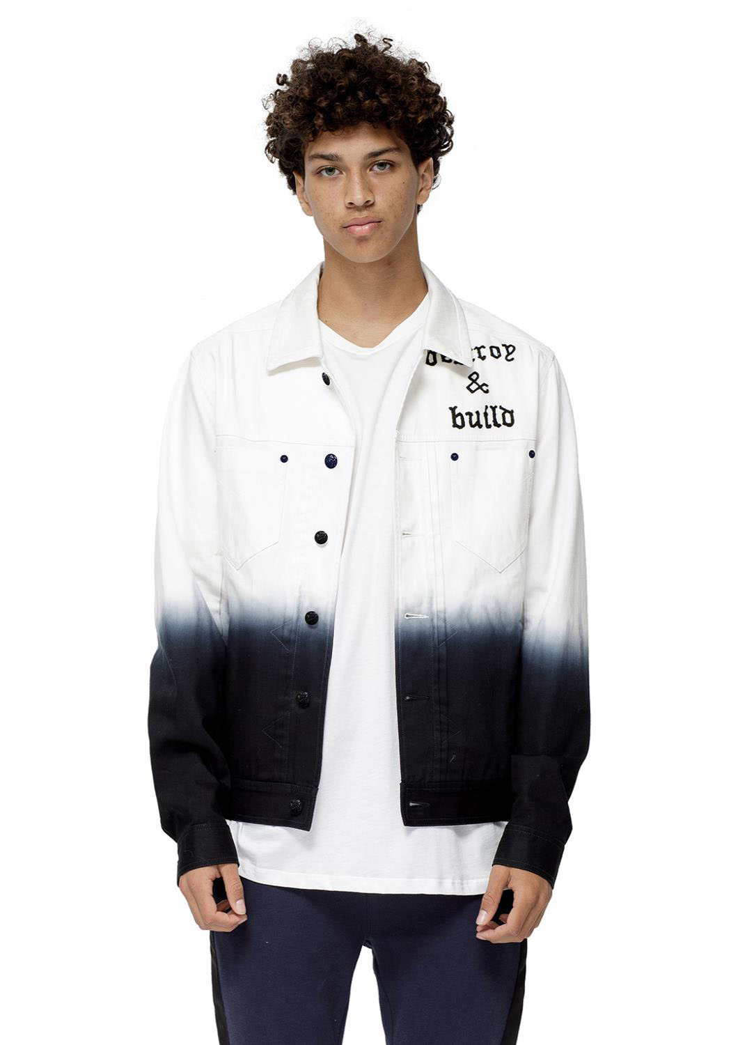 Konus Alder Ombre Men Clothing Denim Jacket