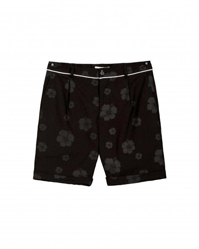 Konus Cuffed Shorts with Floral Print