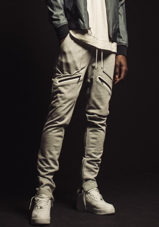 Konus Sweatpants with Zipper on Inseam and Zipper Pocket