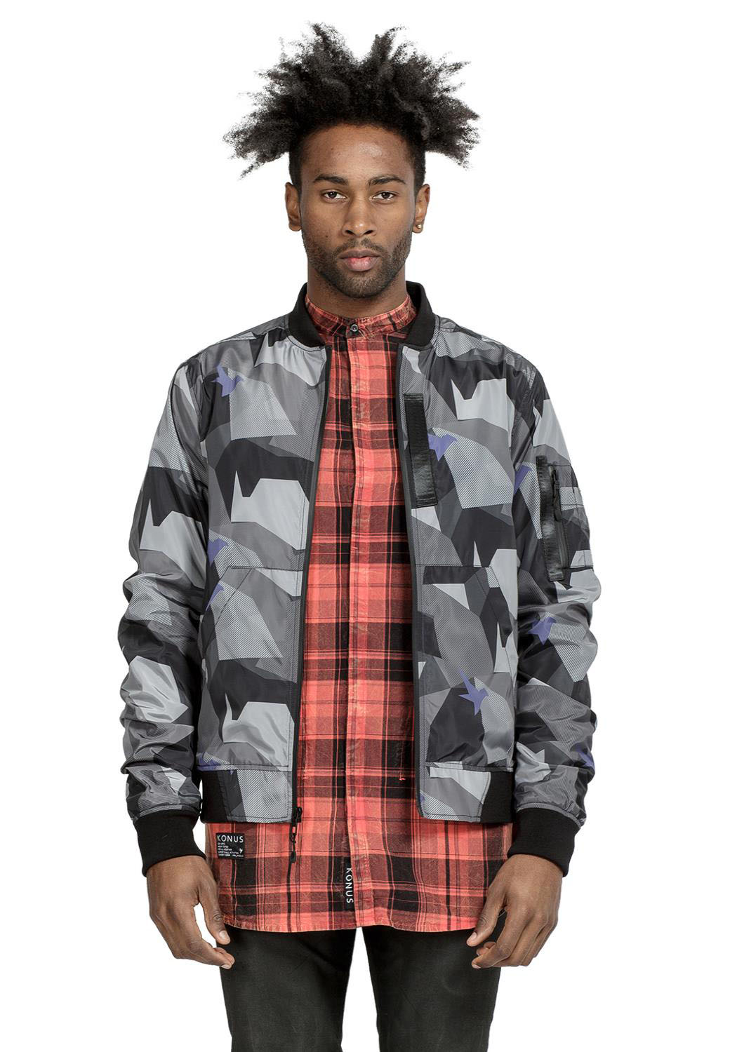Konus Men Clothing Dixon Bomber Jacket