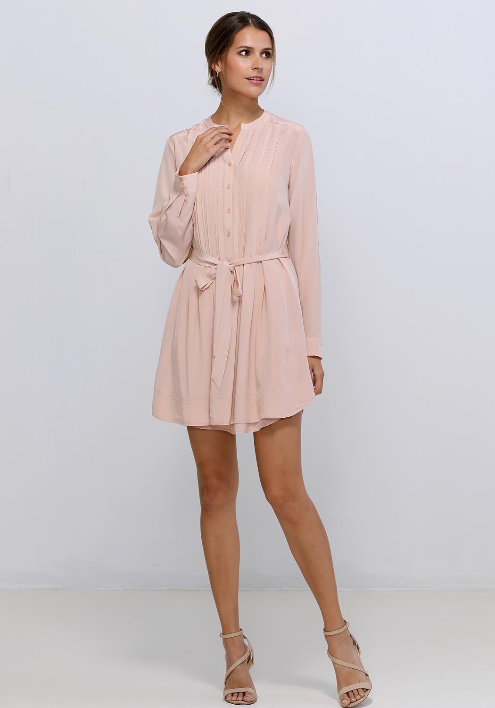 Ro&De Noir 100% Silk Pleated Dress Women Clothing