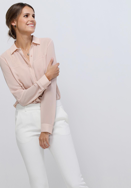 Ro&De Noir Sheer Button Up Blouse Women Clothing