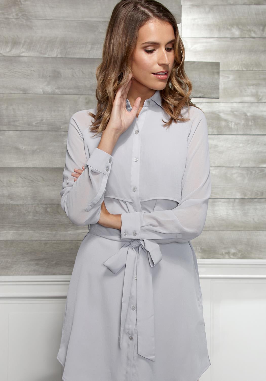Ro&De Noir Button Up Dress Women Clothing