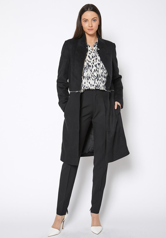 Ro&De Noir Open Front Detachable Long Coat