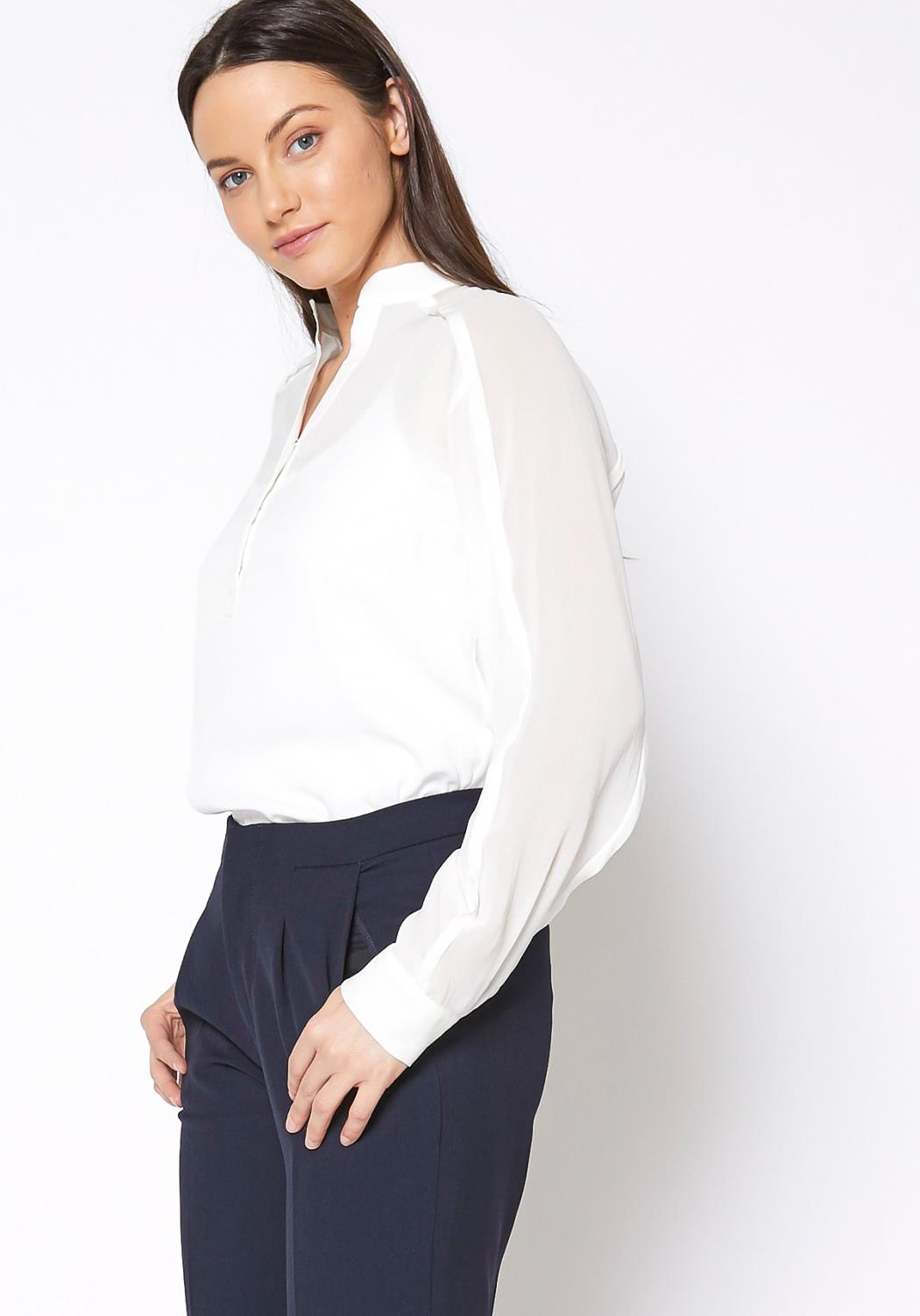 Ro&De Noir Essential White Blouse