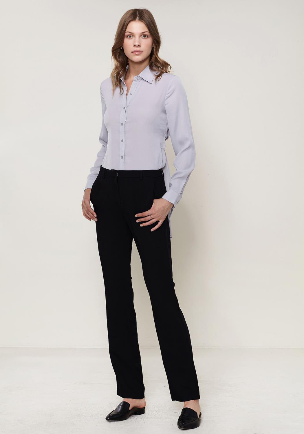 Ro&De Noir Straight Mid-Waisted Pants