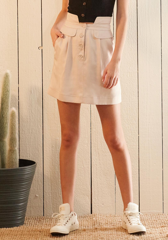 Nurode High Waisted Utility Skirt