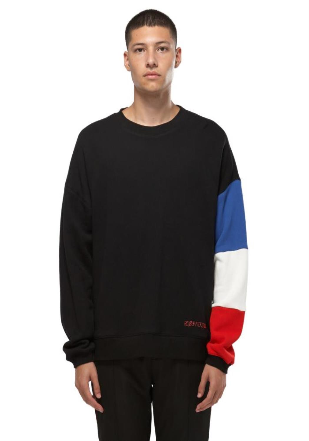 KONUS LS SWEATSHIRT WITH COLOR BLOCKED SLEEVE / McQUEEN