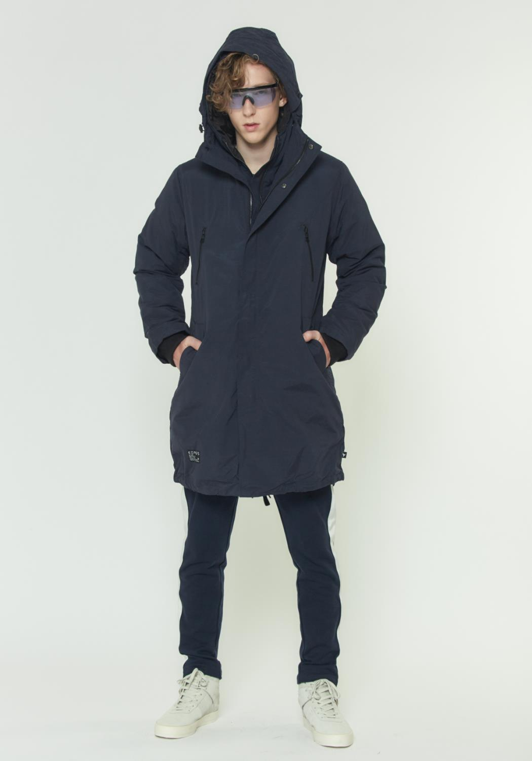 HOODED DUCK DOWN PARKA WITH DETACHABLE OUTER LAYER