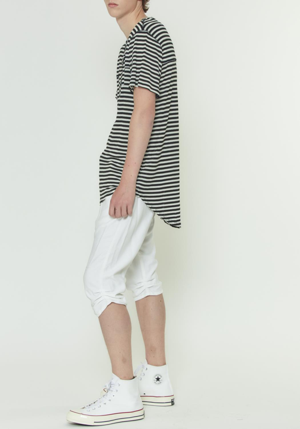 DROP CROTCH SHORTS WITH PLEATS