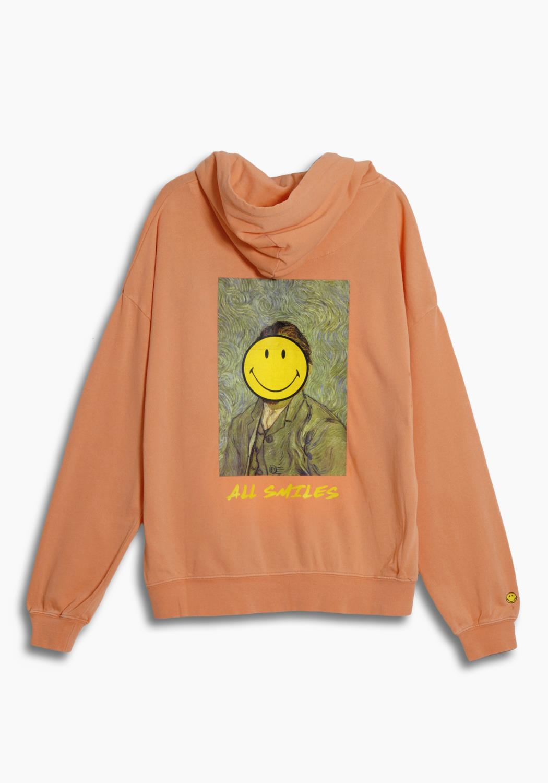 Smiley x Kuwalla Gogh Hoodie in Peach