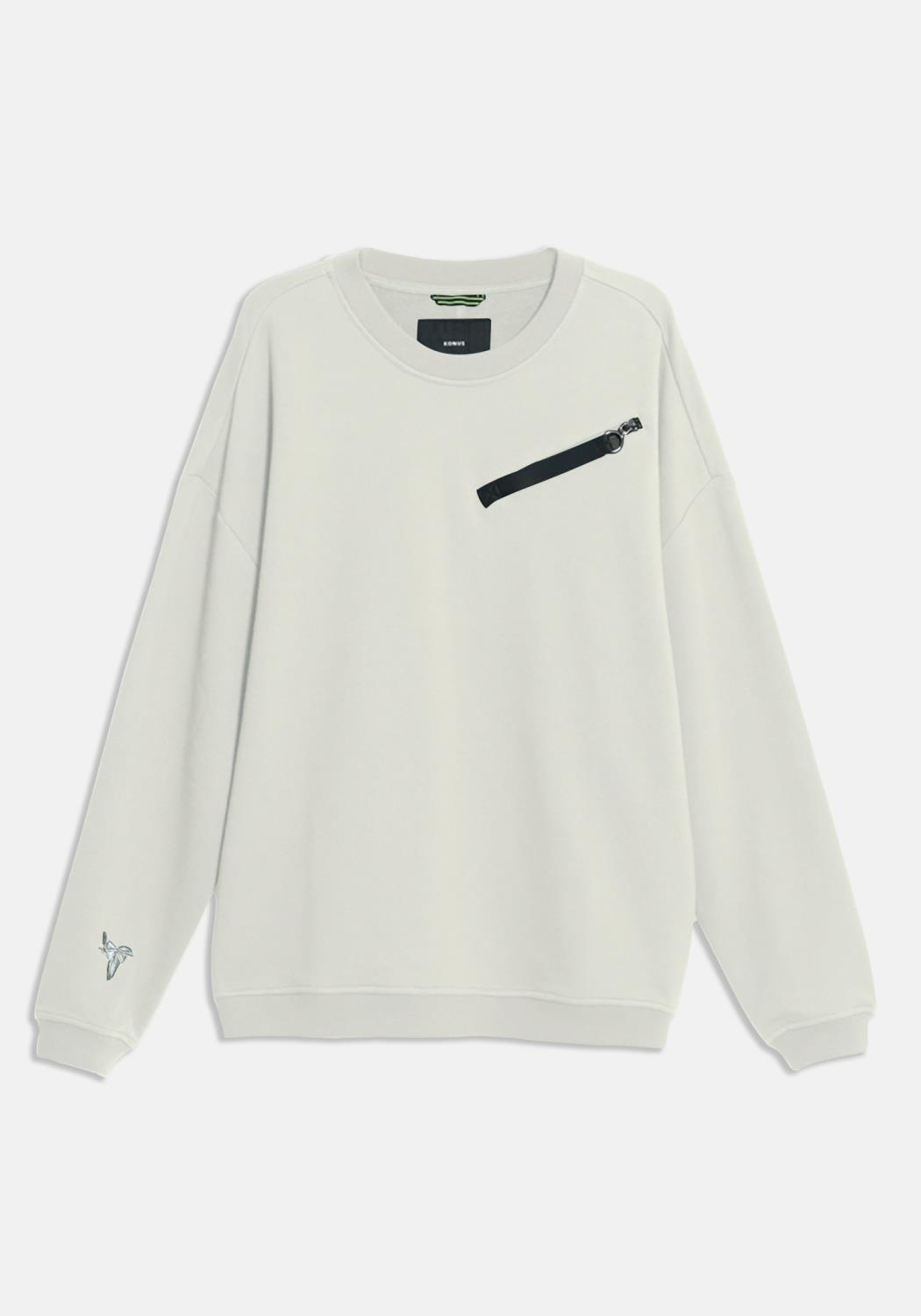 Konus Sweatshirt with Zipper Chest Pocket with Nylon Tape