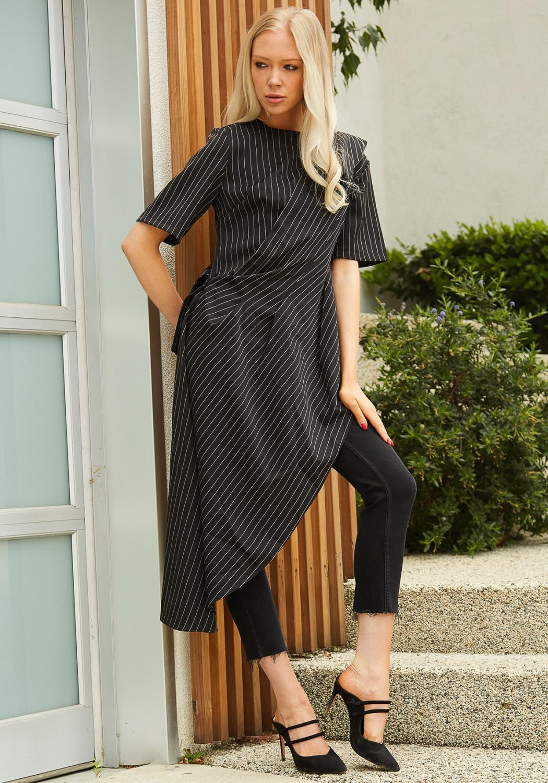 Tansy Stripe Asymmetrical Top