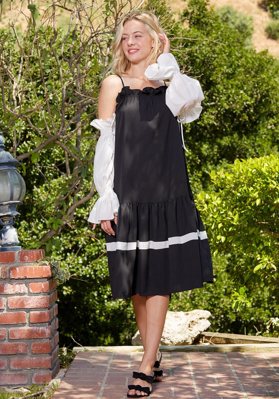Tansy Drop Waist Midi Dress