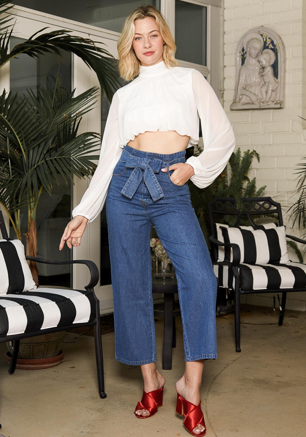 Tansy High Waist Denim Pants