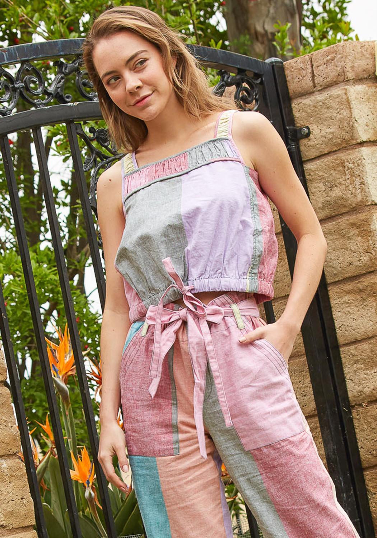 Tansy Color Block Crop Top