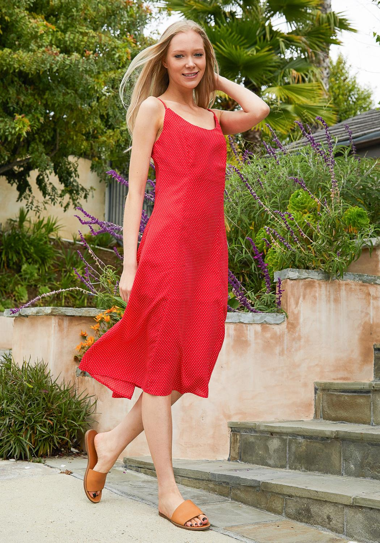 Tansy Polka Dot Midi Dress