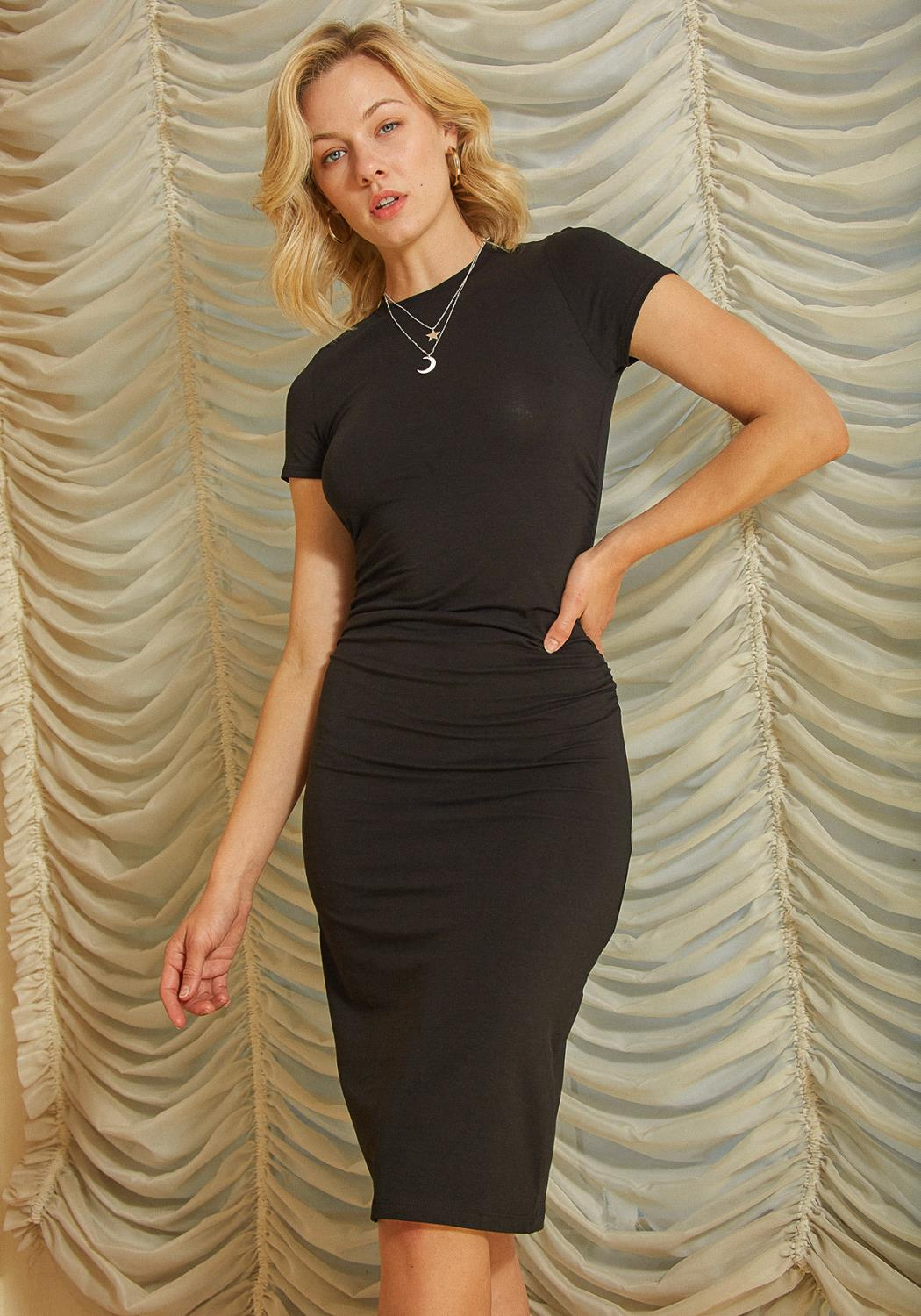 Tansy Ruched Pencil Dress