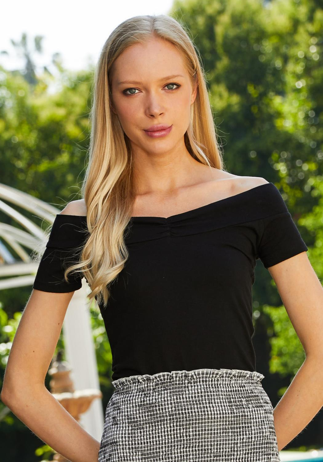 Tansy Off Shoulder Fitted Top