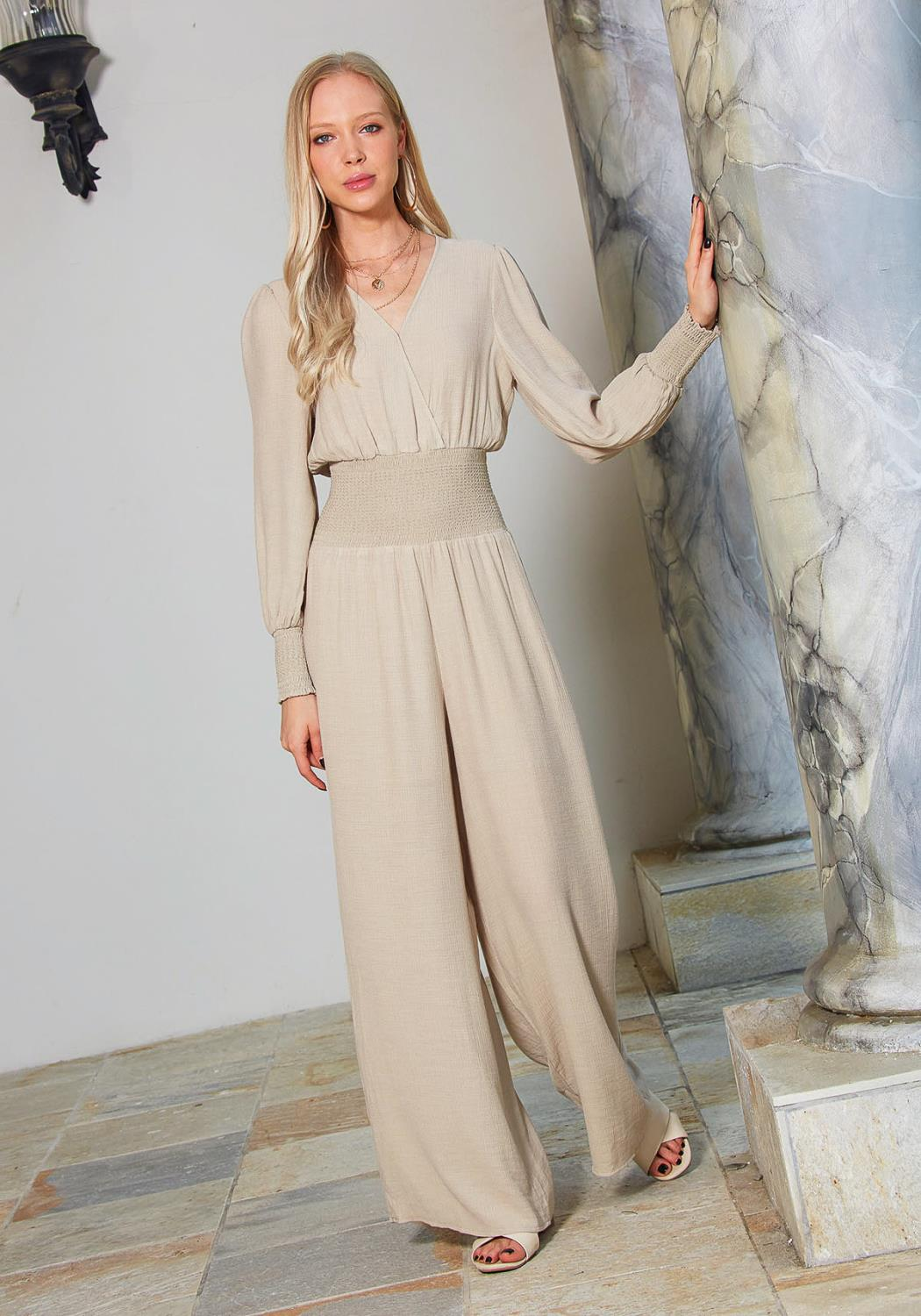 Tansy Smocked Jumpsuit